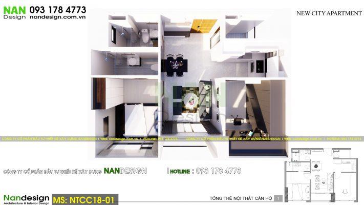 Mặt bằng tổng thể căn hộ chung cư Newcity