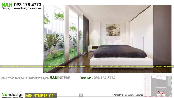 Phối cảnh 3D thiết kế nội thất phòng ngủ