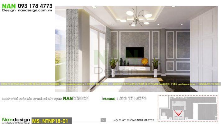 Phối cảnh 3D thiết kế nội thất phòng ngủ master