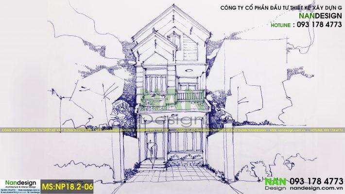 Mẫu thiết kế nhà phố MS.NP18.2-06