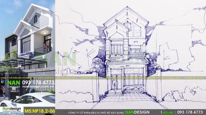 Thiết kế nhà phố NP-18.2-06