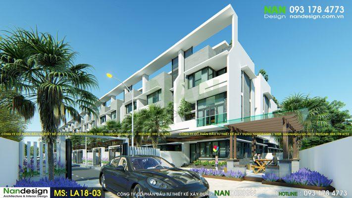 phối cảnh 3d mẫu nhà phố dự án