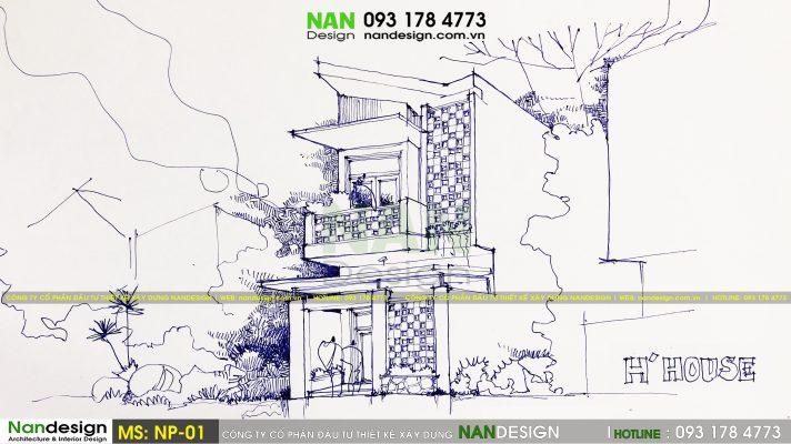Mẫu thiết kế nhà phố SP-NP-01