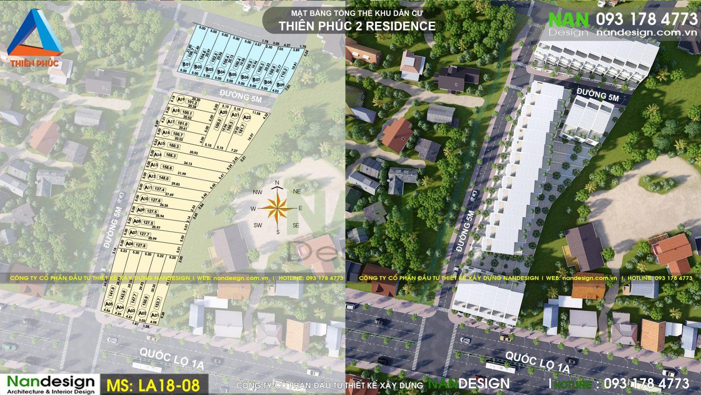 Thiết kế dự án bất động sản- KDC Thiên Phúc 2 Residence- Trảng Bom