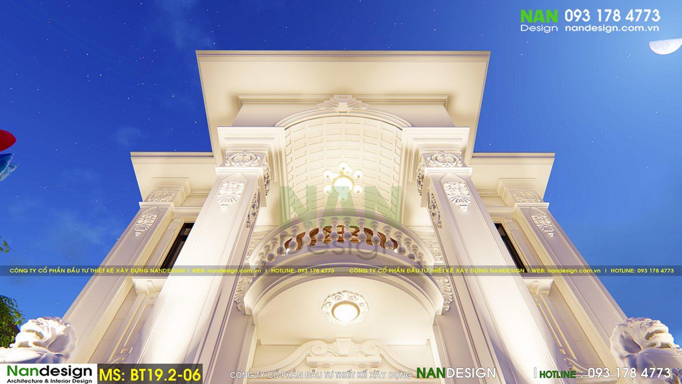 Mẫu Biệt Thự 2 Tầng Bán cổ điển đẹp