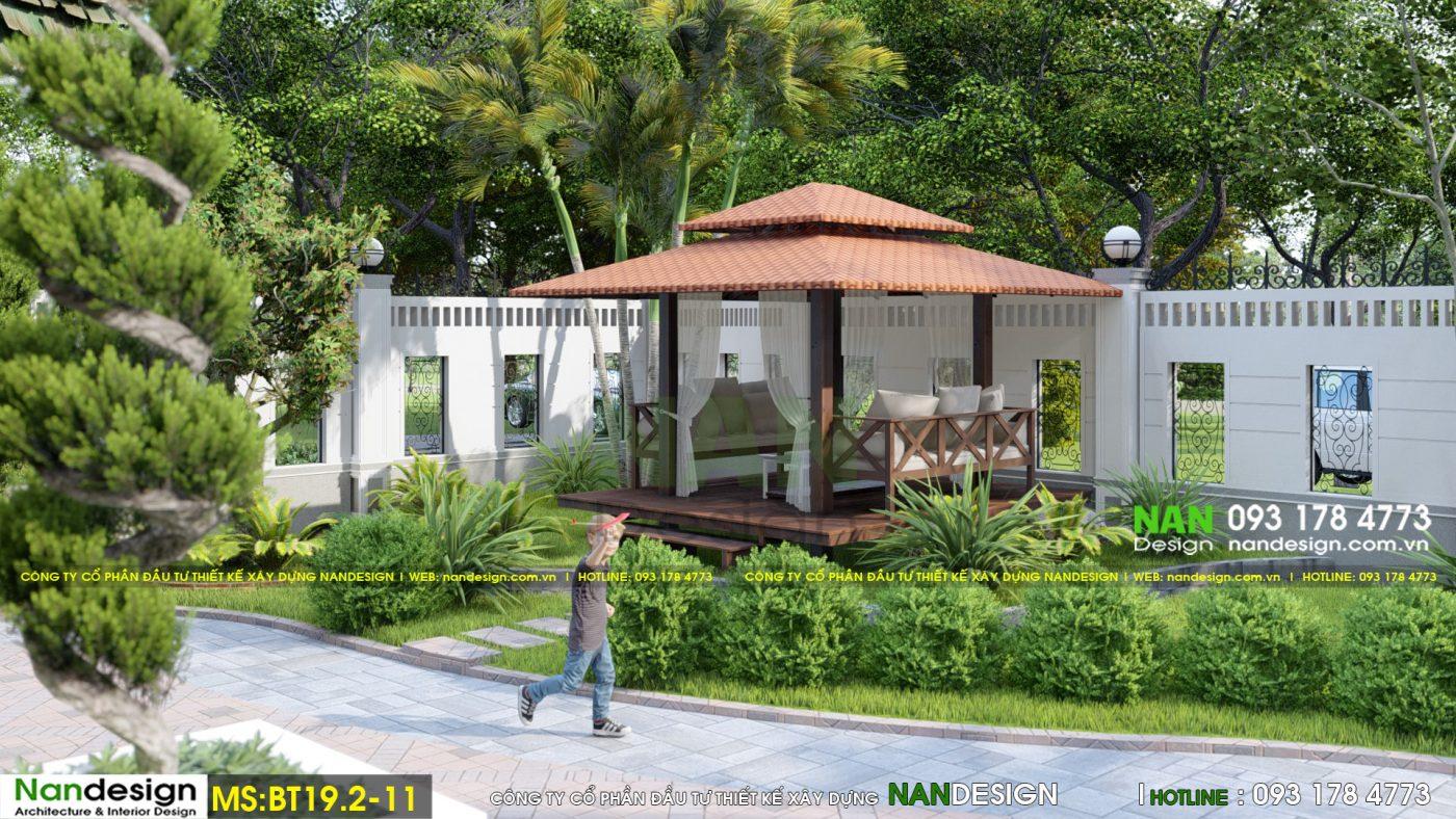 Mẫu Thiết Kế Biệt Thự Sân Vườn 2 Tầng Mái Thái Đẹp