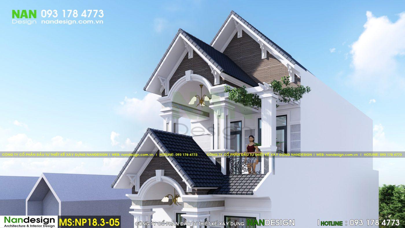 Mẫu thiết kế nhà phố 5x20m 3 tầng bán cổ điển