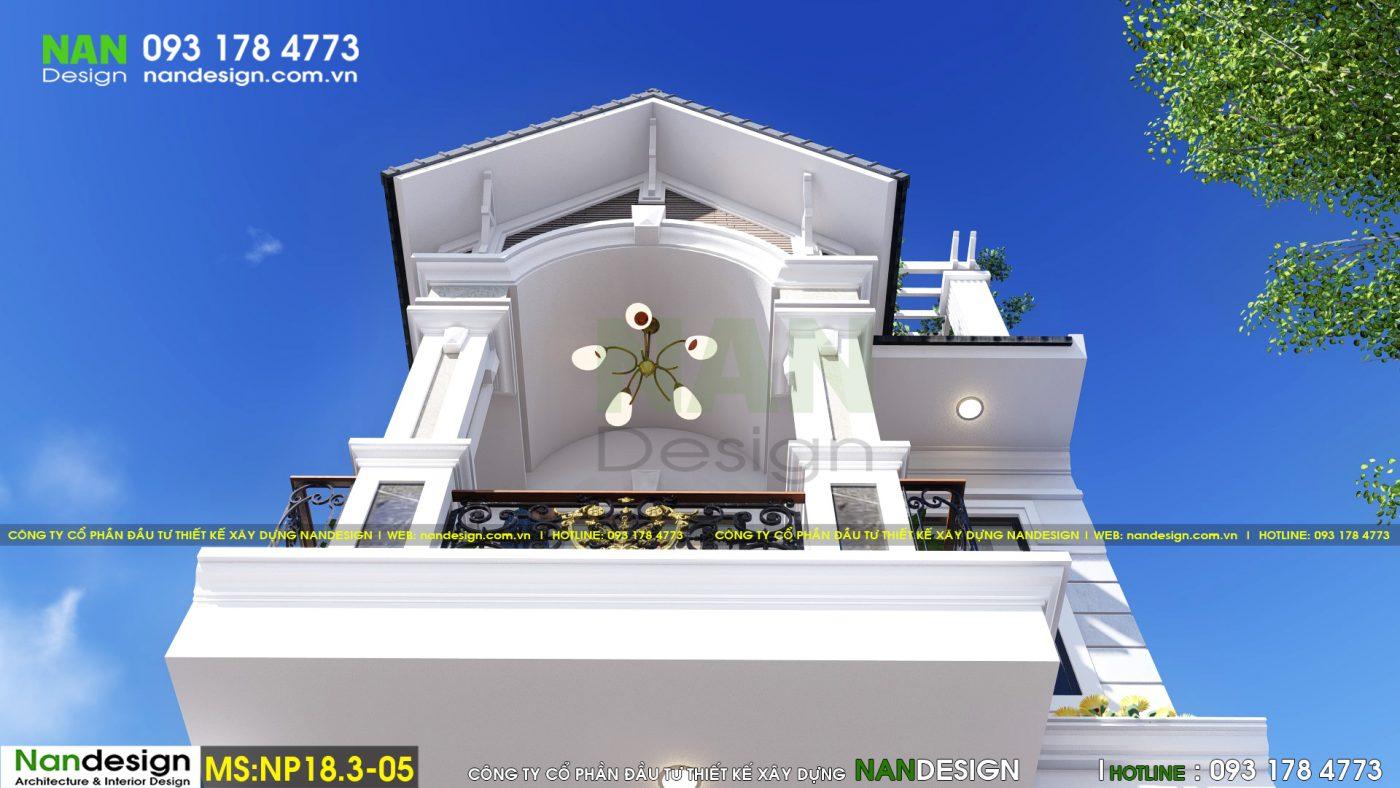 Mẫu thiết kế nhà đẹp 3 tầng 5x20m