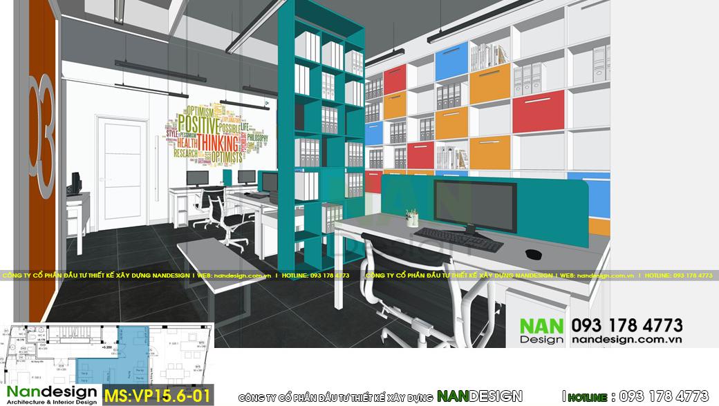 Thiết kế 3d nội thất văn phòng làm việc