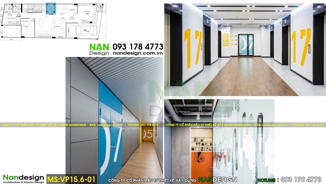 Thiết kế 3d nội thất sảnh tầng văn phòng làm việc