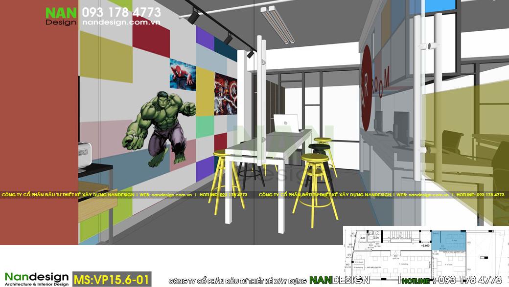 Thiết kế 3d nội thất phòng họp