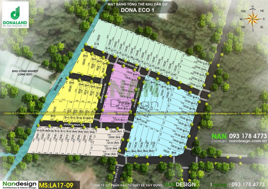 Bản Màu Phân Lô- KDC Dona Eco 1 Residence- Long Thành