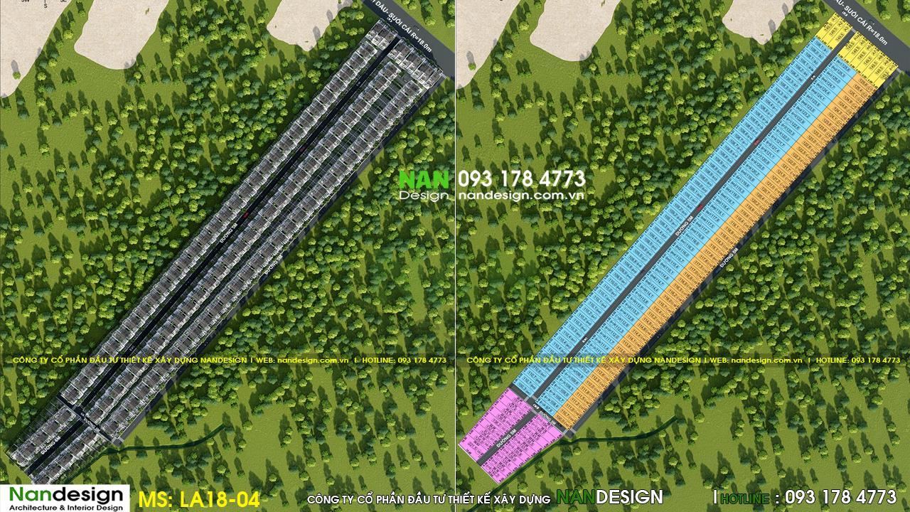 Mặt bằng phân lô và cảnh quan -  KDC Donasea Villas 3- Phú Quốc