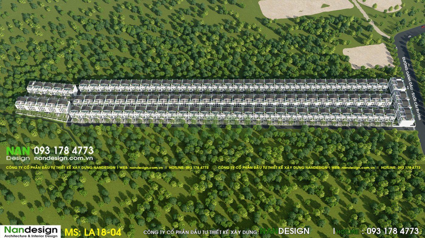 Phối cảnh 3d tổng thể dự án - KDC Donasea Villas 3- Phú Quốc