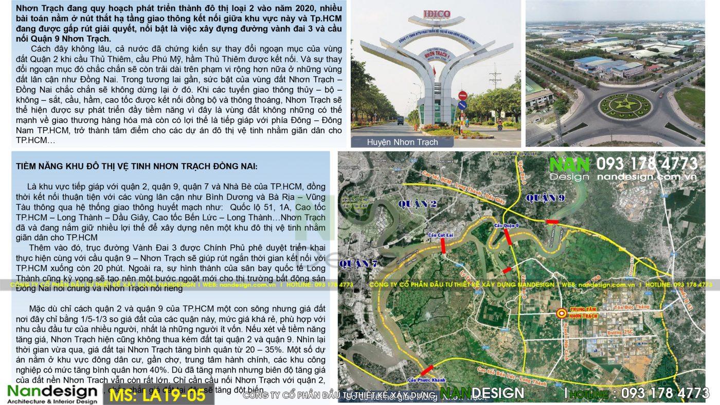 Thiết Kế Dự Án Bất Động Sản, Đất Nền KDC Vĩnh Thanh-Nhơn Trạch- Đồng Nai