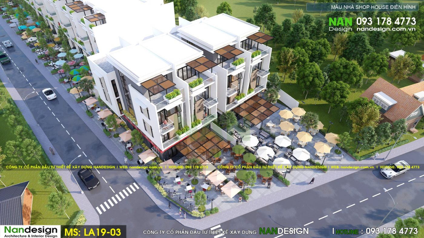 Phối cảnh thiết kế 3D mẫu nhà phố dự án
