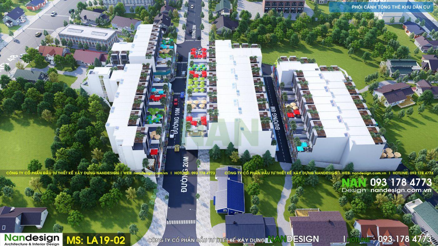 Thiết Kế 3D Phối Cảnh Dự Án Bất Động Sản Khu Dân Cư- Góc Nhìn 4