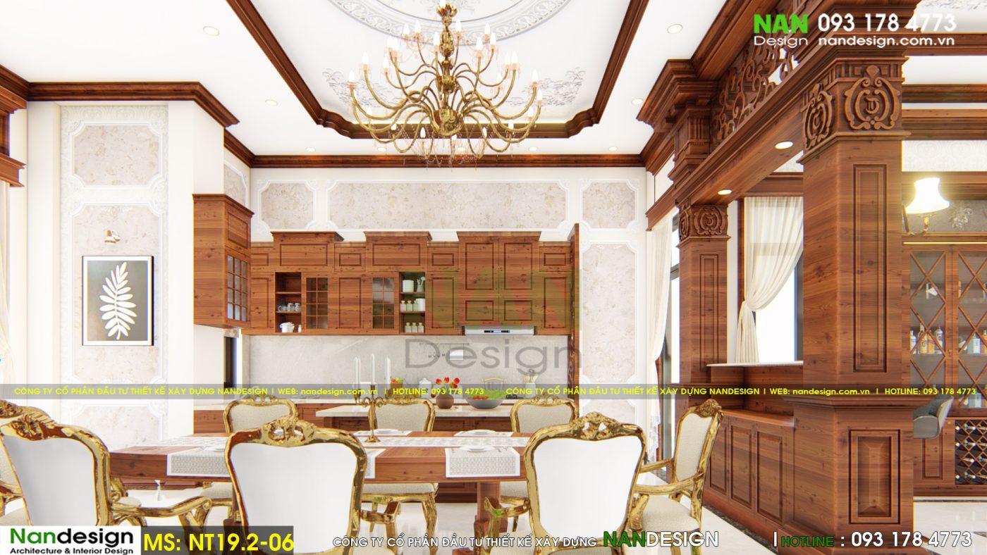 Nội Thất Phòng Khách, Phòng Ăn Biệt Thự Bán Cổ Điển Đep- Nandesign