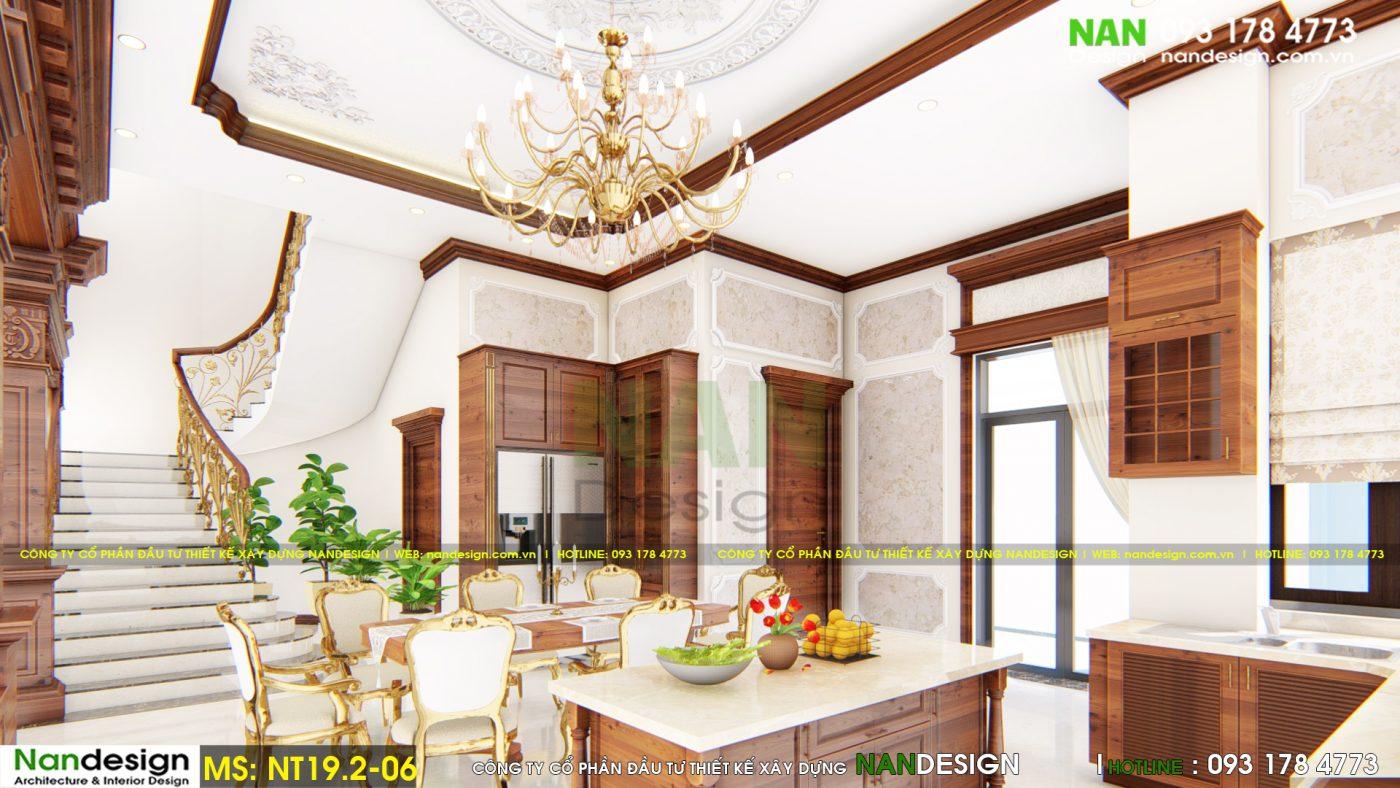 Nội Thất Phòng Khách, Phòng Ăn Biệt Thự Bán Cổ Điển Đẹp- Nandesign