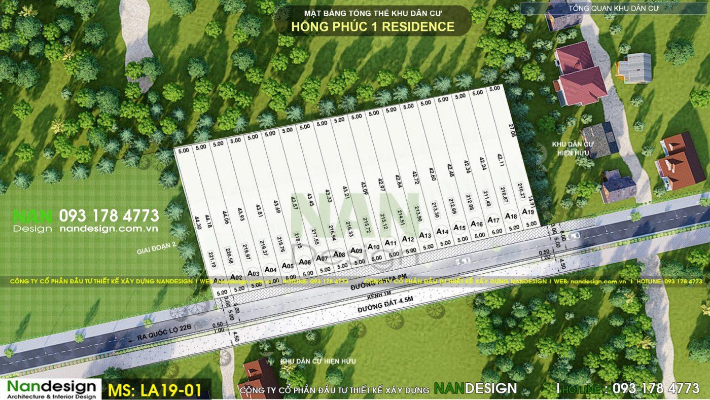 Thiết Kế Dự Án Bất Động Sản, Đất Nền- KDC Hồng Phúc 1 Residence