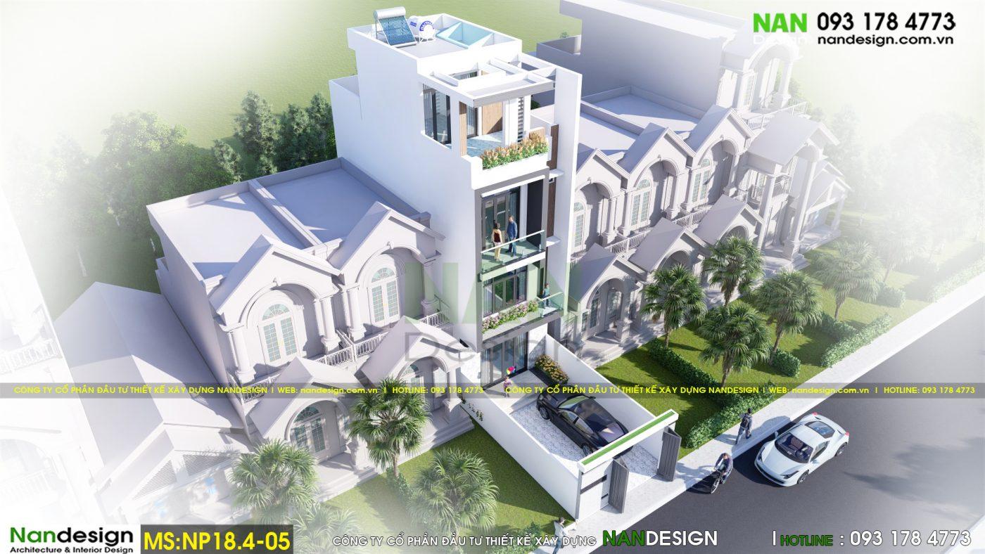 Thiết Kế 3D Phối Cảnh Tổng Thể Nhà Phố