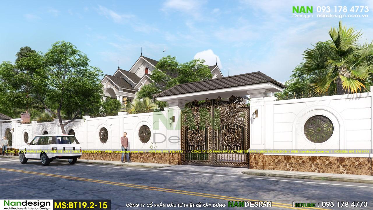 Phối Cảnh 3D Thiết Kế Cổng Vào Biệt Thự