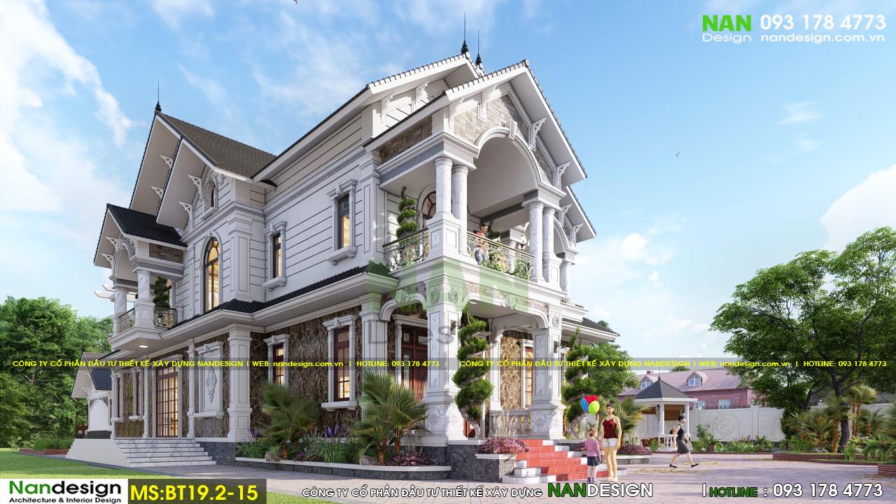 Mê Mẩn Vẻ Đẹp Thiết Kế Biệt Thự Bán Cổ Điển 2 Tầng Sân Vườn Tại Tiền Giang