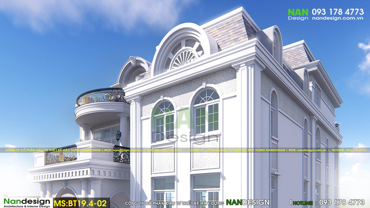 Phối cảnh 3D Phần Mái Biệt thự
