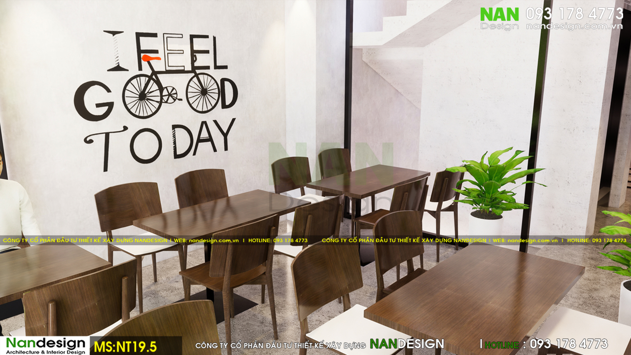 Phối Cảnh 3D Nội Thất Trên Lầu Kết Hợp Cafe Và Đọc Sách Thư Giãn