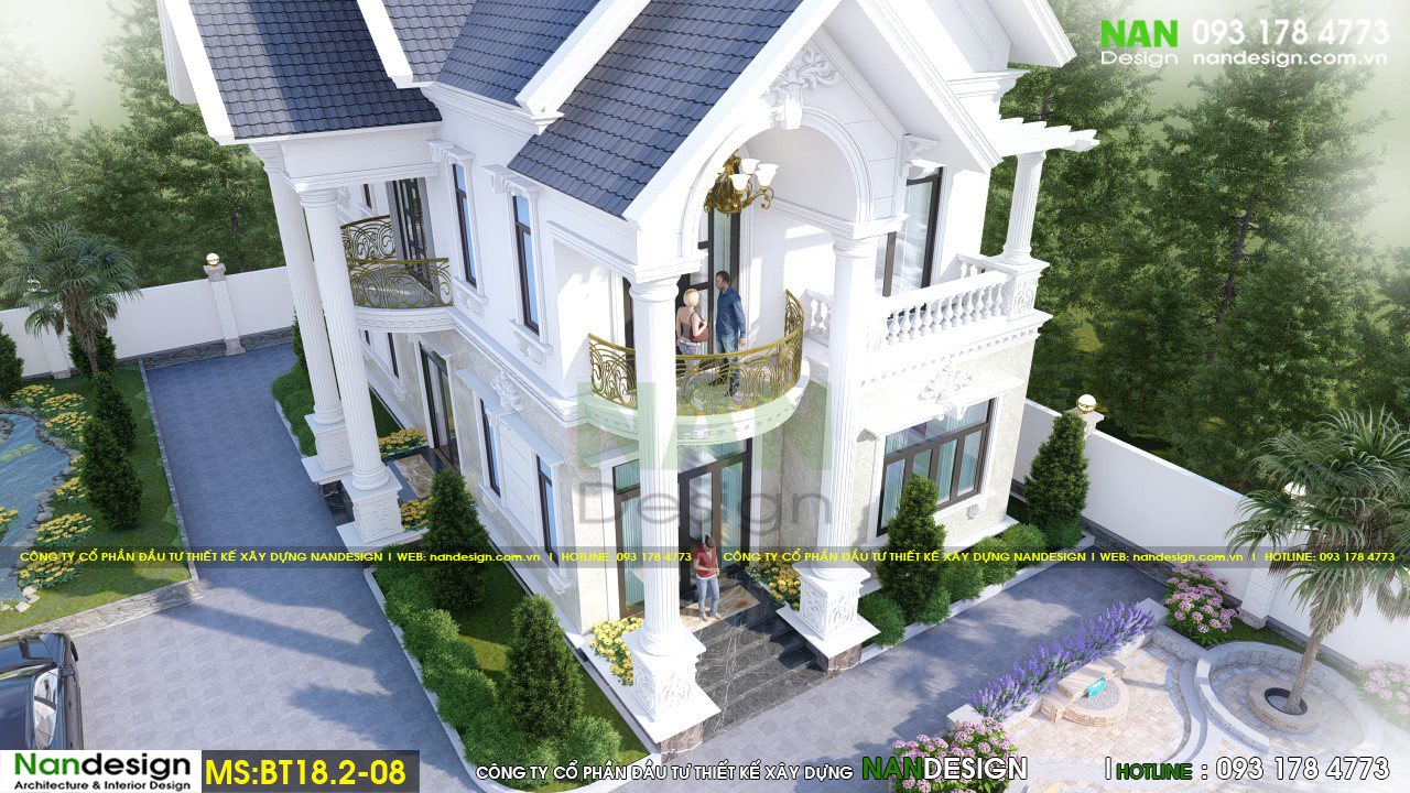 Phối Cảnh 3D Tổng Thể Thiết Kế Sảnh Vào Biệt Thự