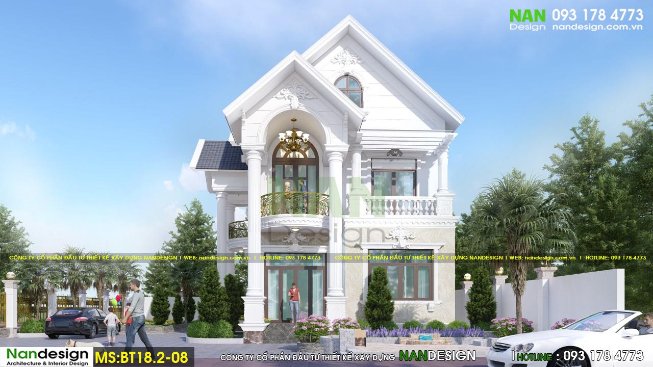Phối Cảnh 3D Thiết Kế Mặt Tiền Biệt Thự Ban Ngày