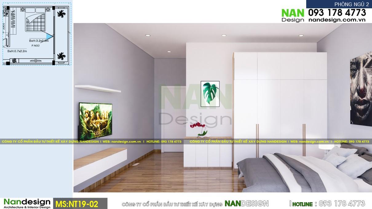 Phối Cảnh 3D Nội Thất Phòng Ngủ 2 - Góc Nhìn 1