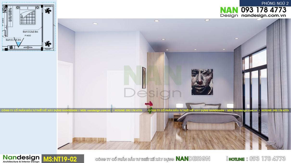 Phối Cảnh 3D Nội Thất Phòng Ngủ 2 - Góc Nhìn 2