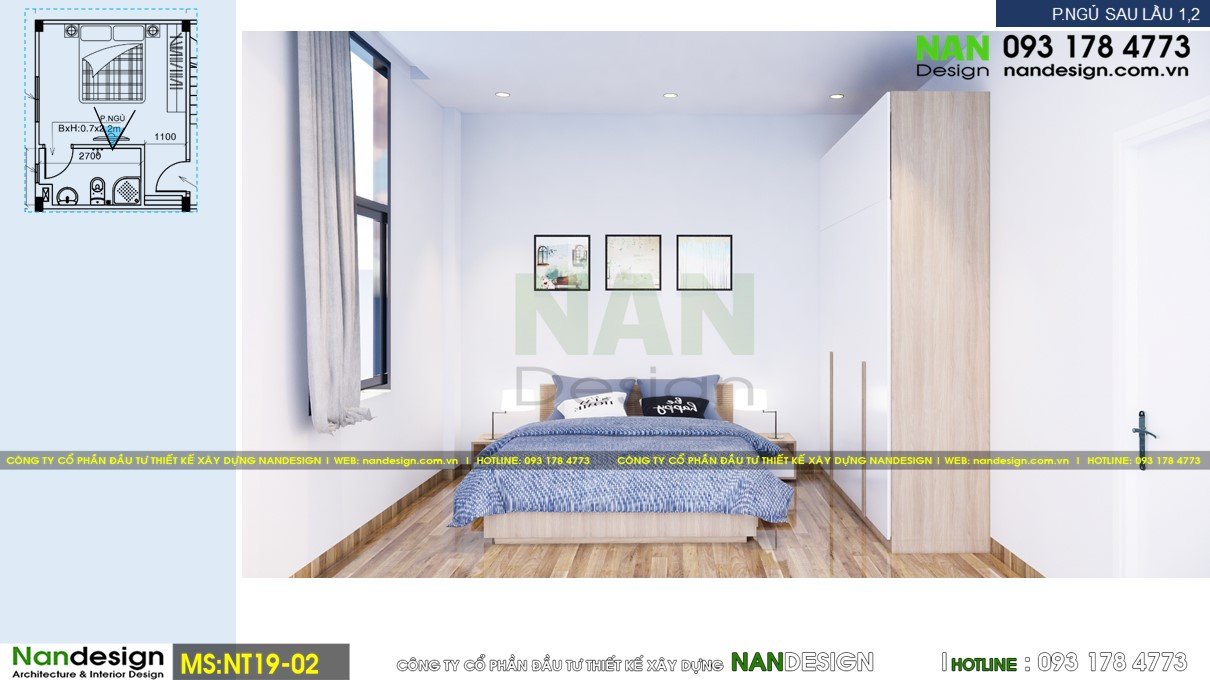 Phối Cảnh 3D Nội Thất Vệ Phòng Ngủ 3 - Góc Nhìn 1