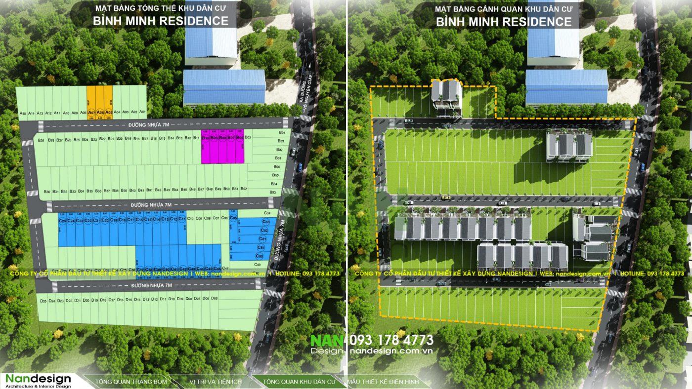 Mặt Bằng Phân Lô Dự Án Khu Dân Cư Bình Minh Residence