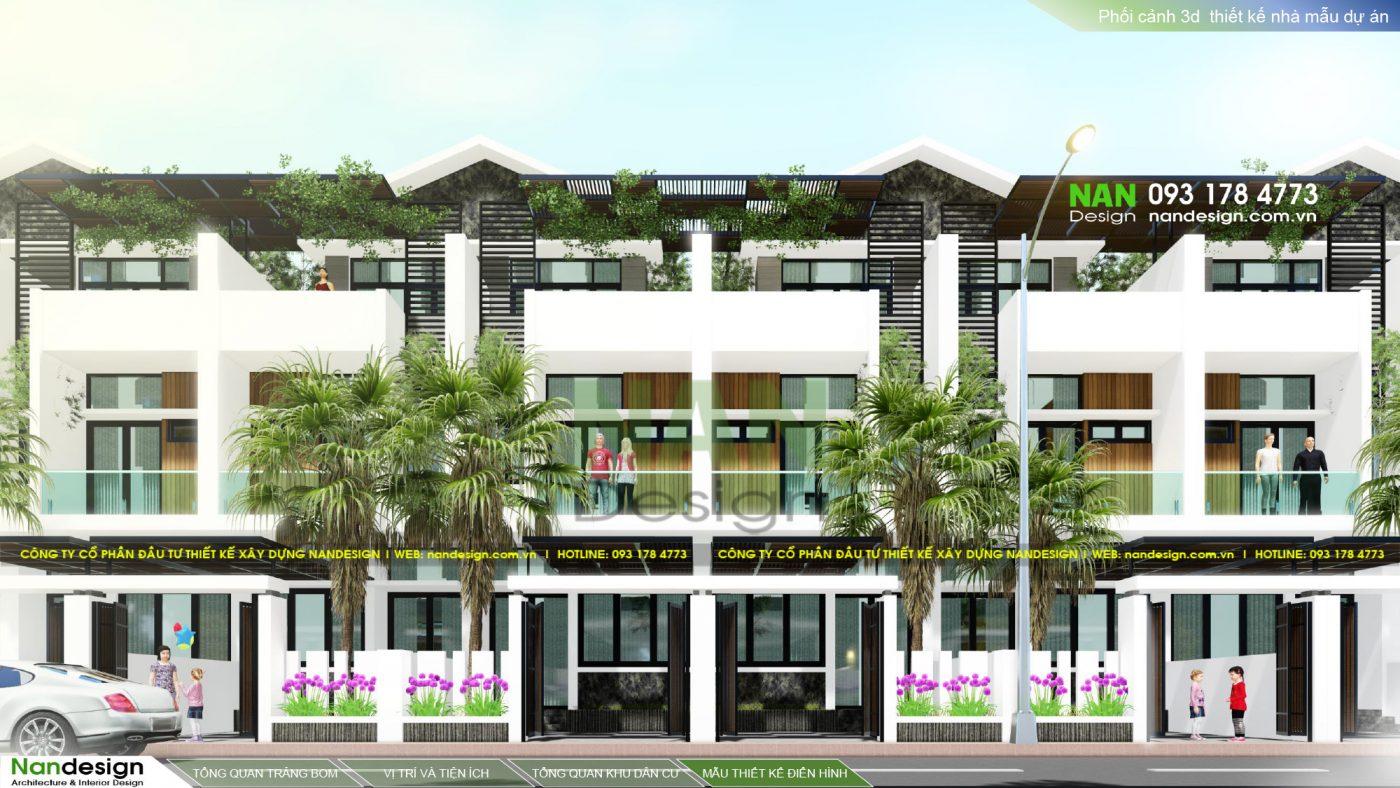Thiết Kế 3D Mẫu Nhà Điển Hình KDC Bình Minh Residence