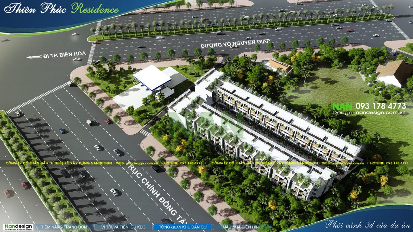 Thiết Kế 3D Phối Cảnh Tổng Thể Dự Án Khu Dân Cư Thiên Phúc Residence