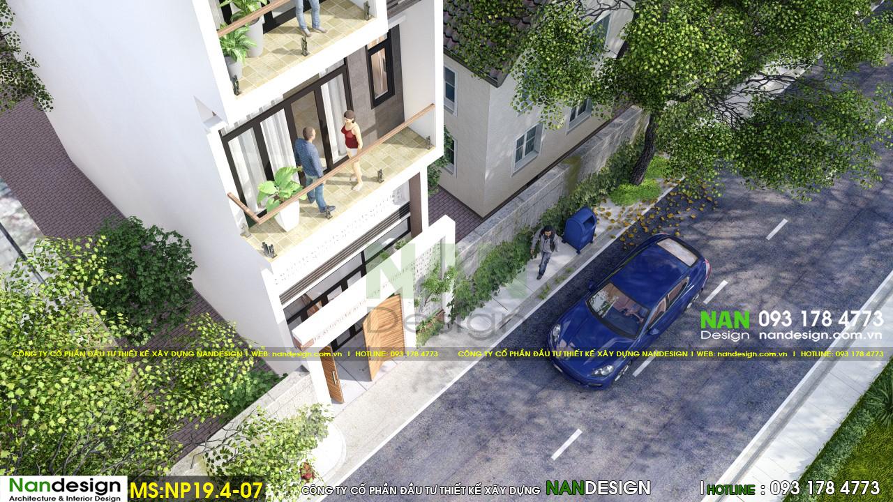 Phối Cảnh 3D Mặt Tiền Nhà Và Tuyến Phố Thông Thoáng