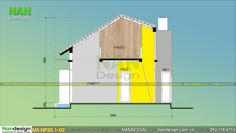 Bản Vẽ Mặt Cắt Mẫu Nhà Cấp 4 30m2