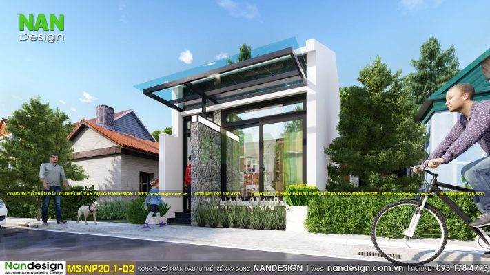 Thiết Kế 3D Mẫu Nhà 30m2 Có Gác Lửng Thông Thoáng Tự Nhiên