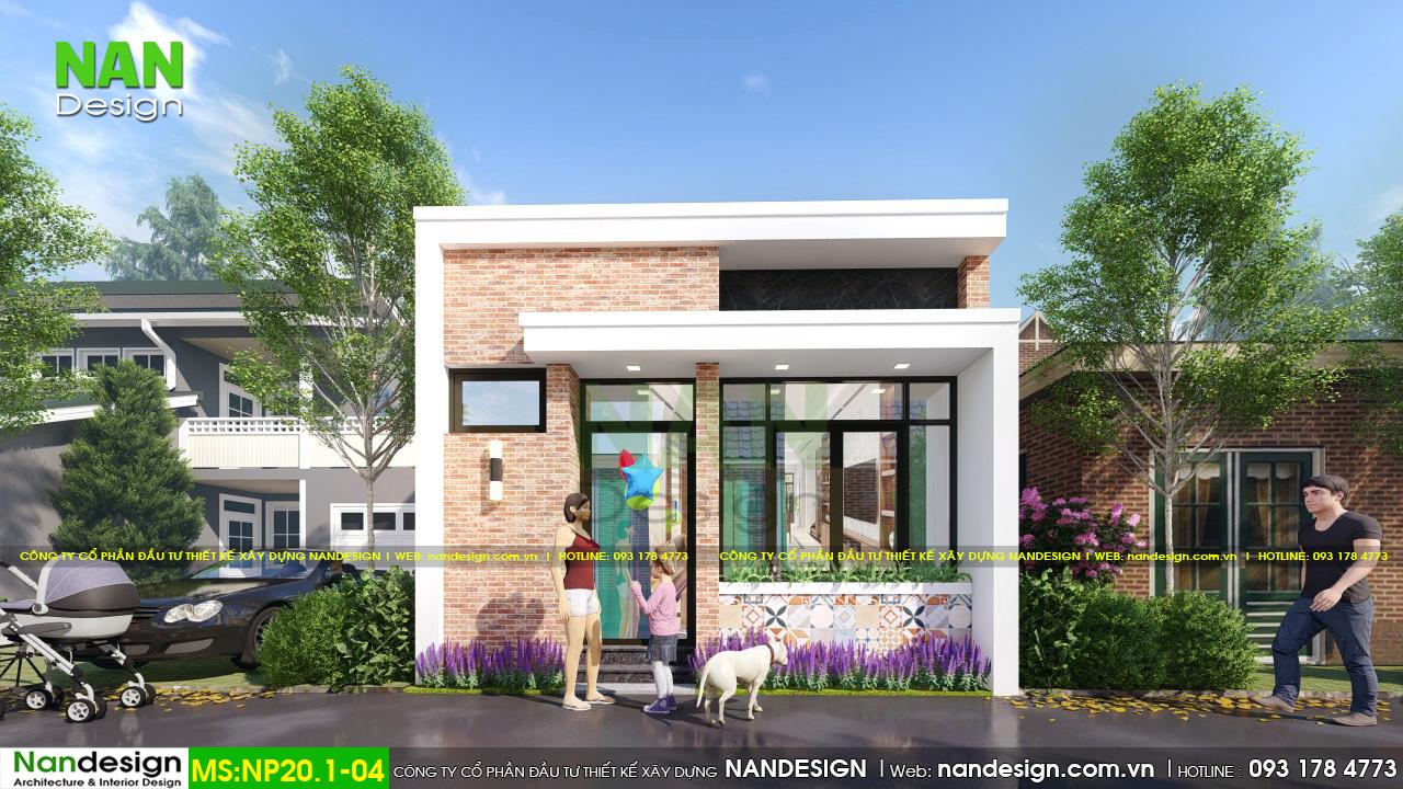 Thiết Kế 3D Mặt Tiền Nhà Phố 5m Mẫu Nhà 30m2