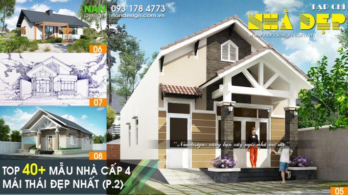 Top 40 Mẫu Nhà Cấp 4 Mái Thái Đẹp Phần 2