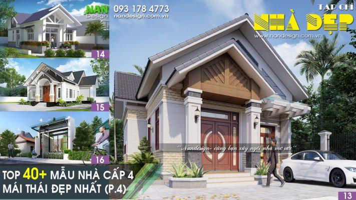 Mẫu Nhà Cấp 4 Mái Thái Đẹp - P4
