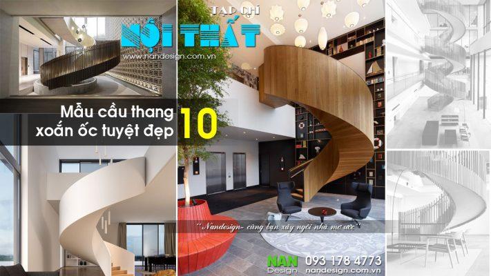10 Mẫu Cầu Thang Xoắn Ốc Tuyệt Đẹp