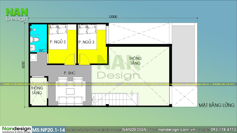 Bản Vẽ Công Năng Tầng Lửng Mẫu Nhà Cấp 4 6x12