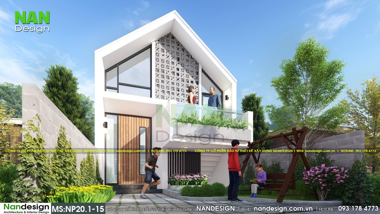 Mặt Tiền Nhà Mái Thái 5x15 Đẹp Hút Hồn Với Thiết Kế Độc Đáo Sử Dụng Vật Liệu Linh Hoạt