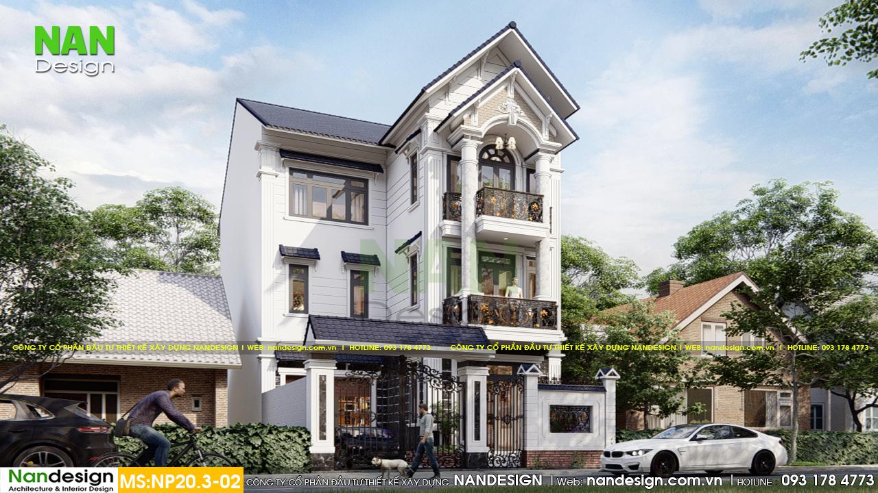 Thiết kế Biệt Thự Phố Theo Phong Cách Sang Trọng Nhưng Lãng Mạn Nhẹ Nhàng