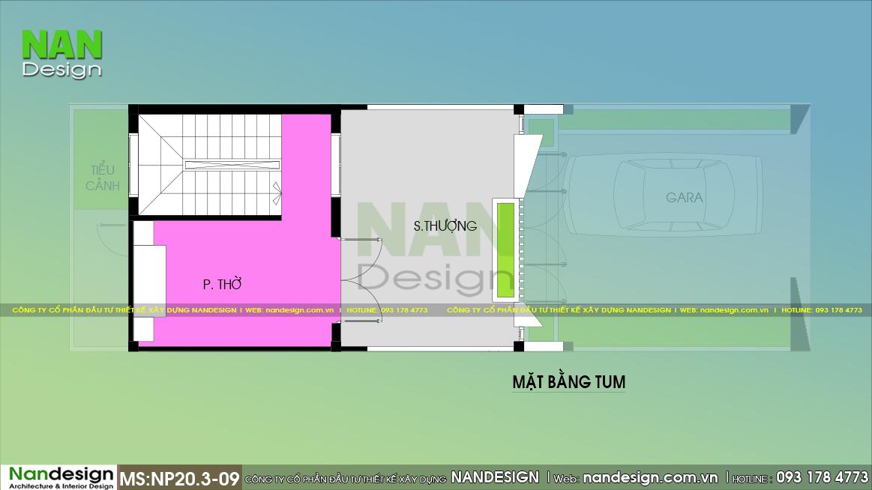 Bản Vẽ Tầng Tum Mẫu Thiết Kế Nhà 5x15m
