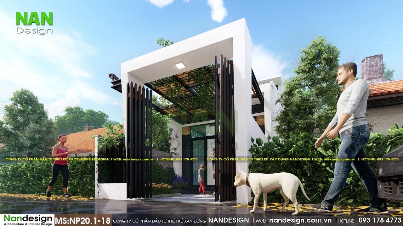 Thiết kế Cổng Vào Đơn Giản Và HIện Đại Mẫu Nhà Cấp 4