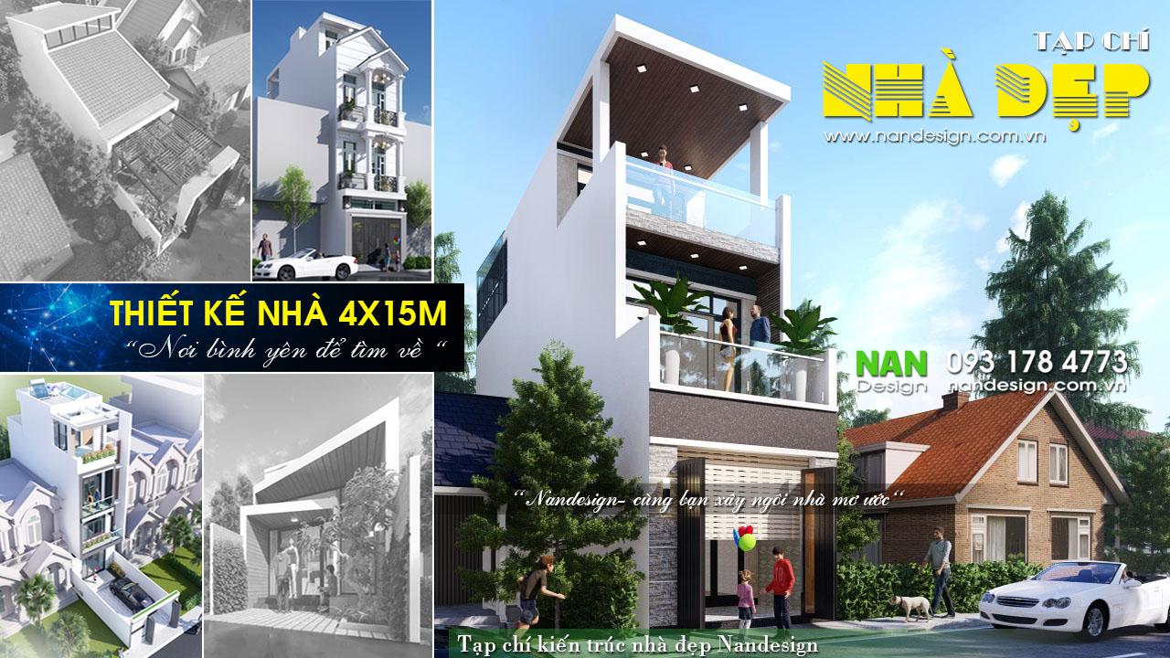 Thiết kế nhà 4x15m